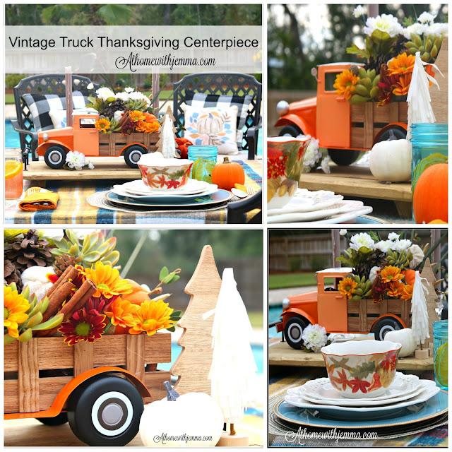 Thanksgiving, centerpiece, vintage, decorating, simple