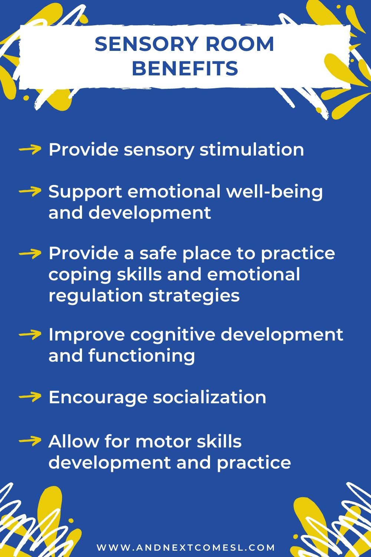 A list of sensory room benefits