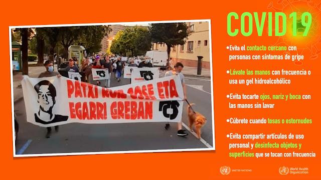 Manifestación en apoyo a Patxi Ruiz