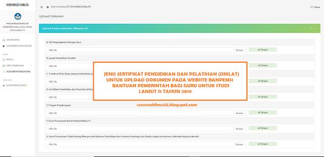 Jenis Sertifikat Diklat yang Bisa Diupload pada Website BANPEMS1