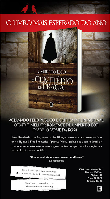 Burn News: Novo romance de Umberto Eco, O Cemiterio de Praga. 14