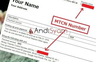 Money Transfer Control Number (MNTC)