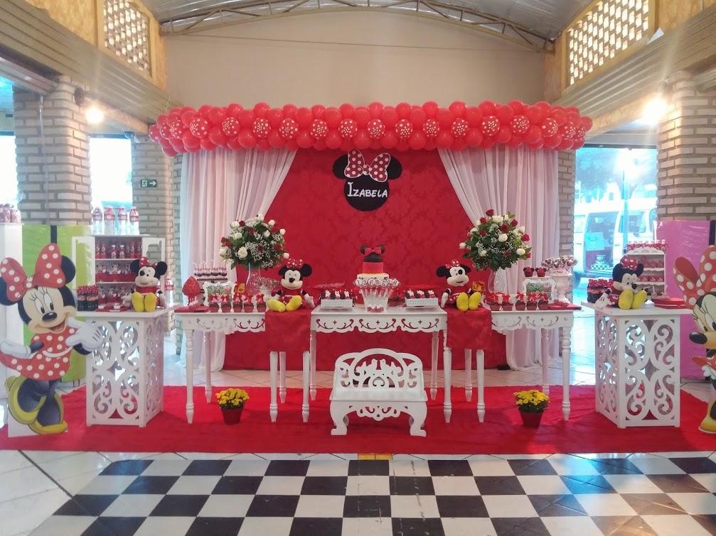 Momento Mgico Decoraes  Festa Minnie Vermelha Provenal