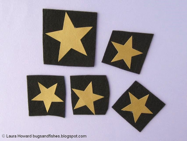 vegan leather star headband tutorial: add the felt backing