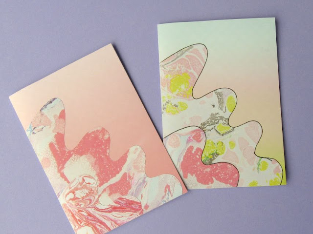 Making notecards from patterned paper and card