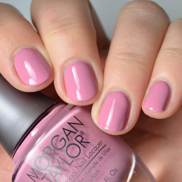 rose nail polish swatch