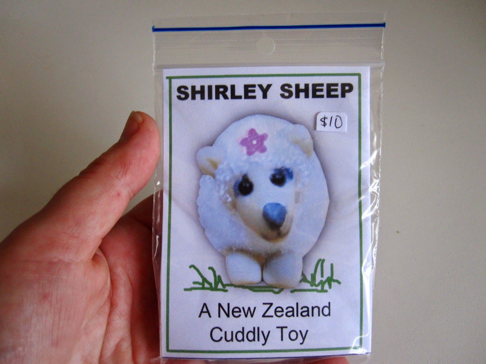 Miniature 'Shirley Sheep: a New Zealand cuddly toy' kit.