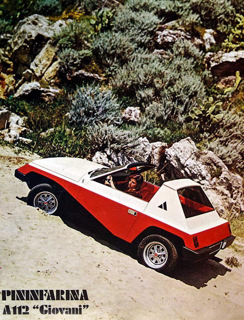 Il Blog di Corrado Lopresto: La brochure originale dell'Autobianchi A112  Giovani concept della collezione Lopresto
