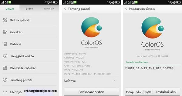 Update ColorOS Untuk Semua Model Oppo