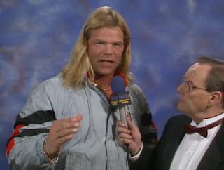 WCW Wrestlewar 1990 - Gordon Sollie interviews Lex Luger
