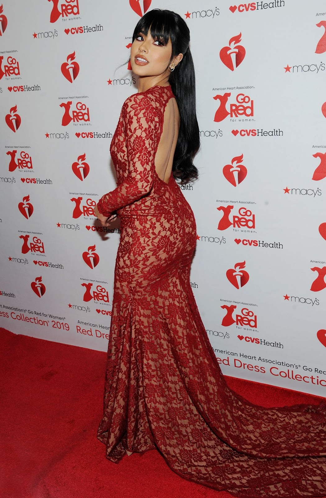 Becky G – Go Red For Women Red Dress Collection 2019 in NYC - 02/07/19