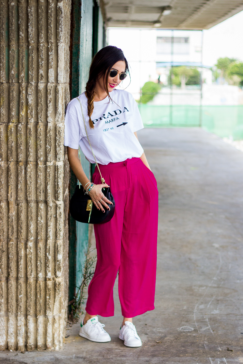 cropped pants and adidas