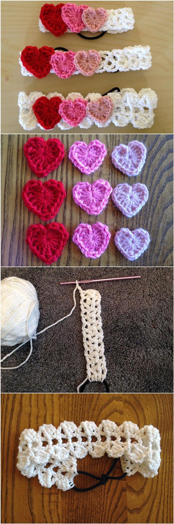 Free Crochet Pattern: Valentine's Day Headbands