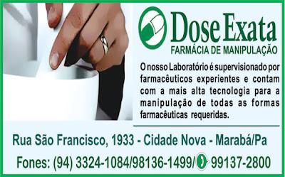 DOSE EXATA FARMÁCIA DE MANIPULAÇÃO -- MARABÁ/PA