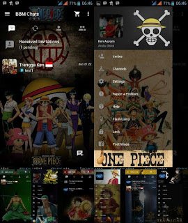 BBM Mod Tema One Piece Apk Versi 3.3.6.51