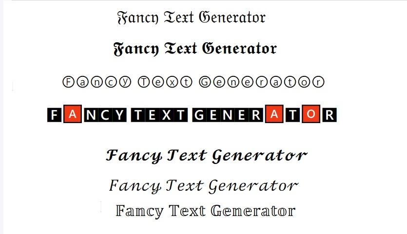 Fancy Text Generator