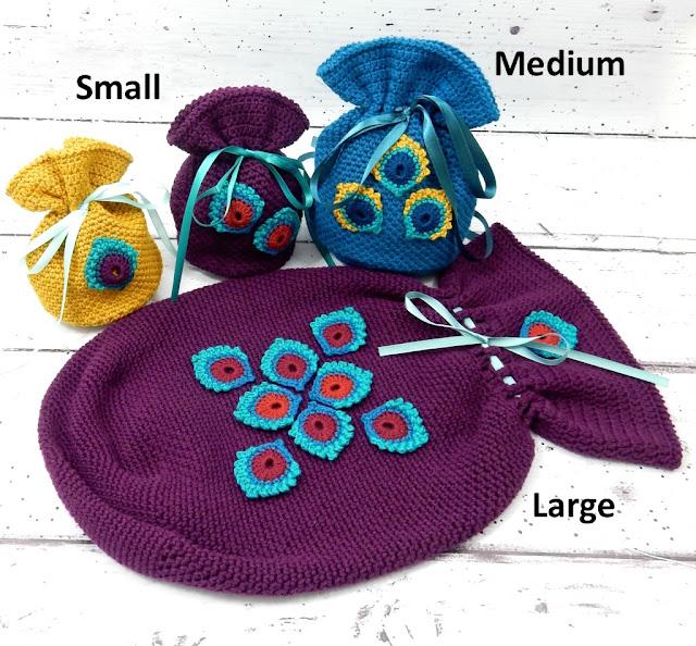 gratis haakpatroon peacocky pouch cadeau project tasje buideltje the curio crafts room