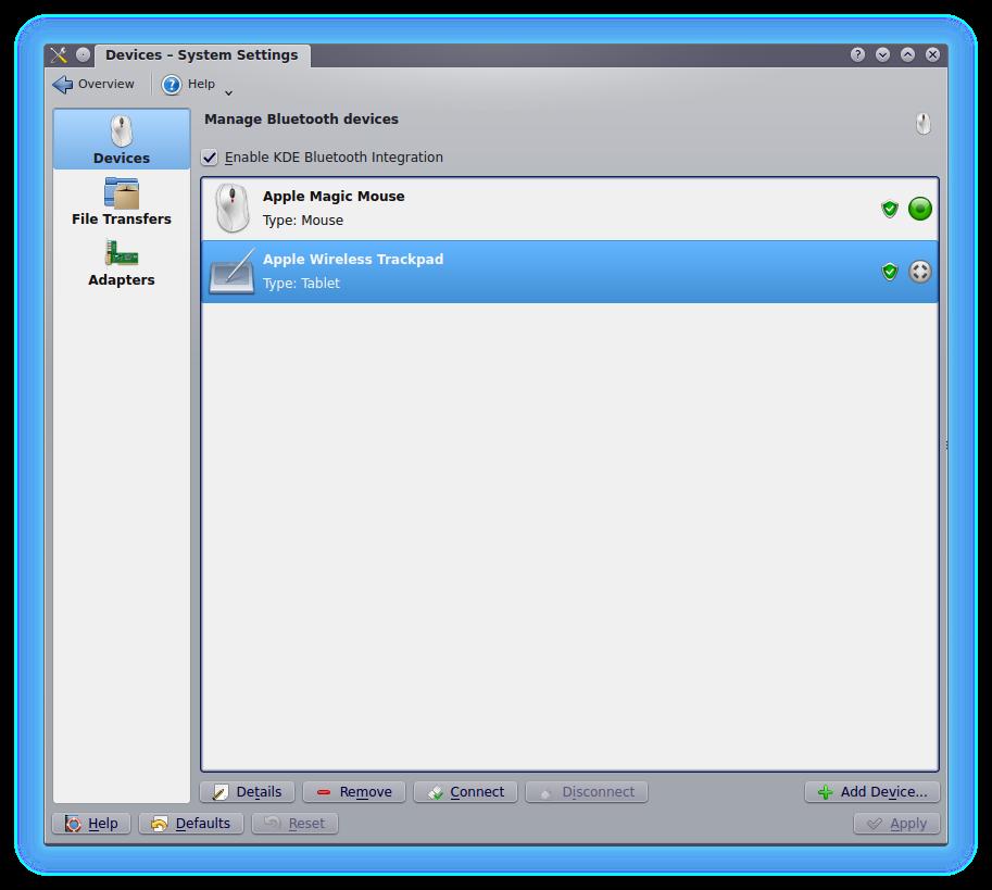 Apple Magic Trackpad on KDE ~ ShellScreen: Linux tuning