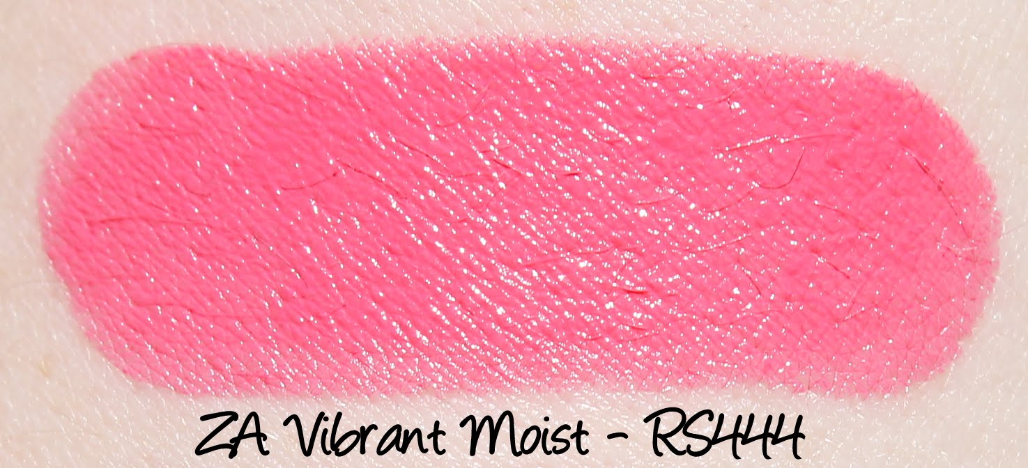 ZA Vibrant Moist Lipstick - RS444 Swatches & Review