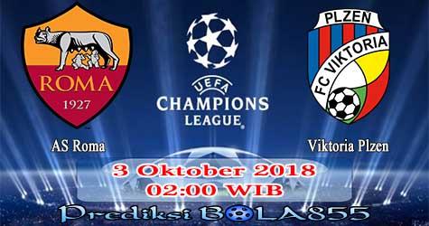 Prediksi Bola855 AS Roma vs Viktoria Plzen 3 Oktober 2018