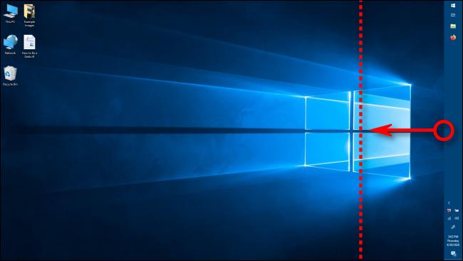 تغيير عرض شريط المهام في Windows 10