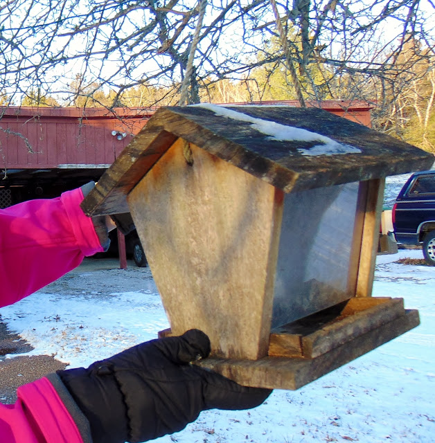 Time to fill the birdfeeders again #WinOverWinter #ad