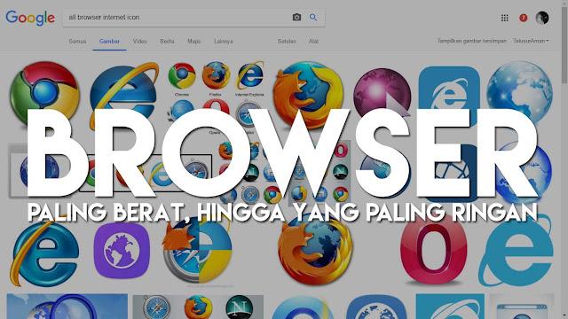 15 Posisi Browser Internet dari yang Berat Hingga yang Paling Ringan dan powerfull