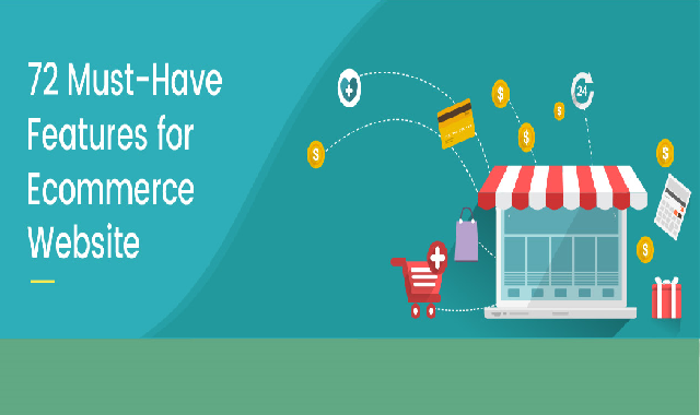 72 Must-Have Features for Ecommerce Website #infographic
