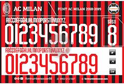 Font Inter Milan 2018-2019 - Font Number Soccer
