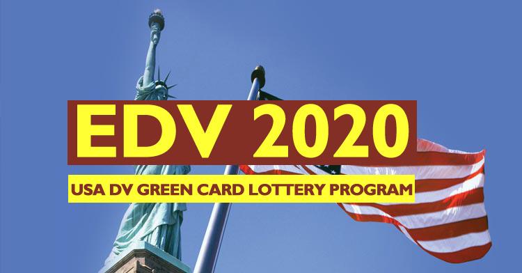 EDV-2020, Electronic Diversity Visa Lottery USA 2020 – USA DV Online