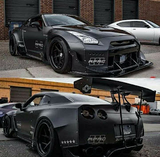 Nissan GTR Colored Black Doff