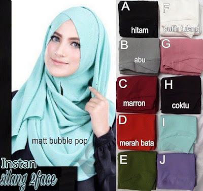 Jilbab Instan Silang 2 Face