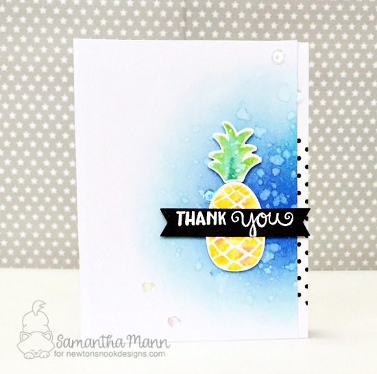 Pineapple Thank You Card by Samantha Mann | Pineapple Delight Stamp set by Newton's Nook Designs #newtonsnook