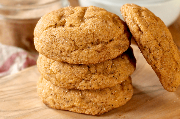 PUMPKIN SNICKERDOODLES WITH CHAI #desserts #pumpkin #bars #cookies #snack