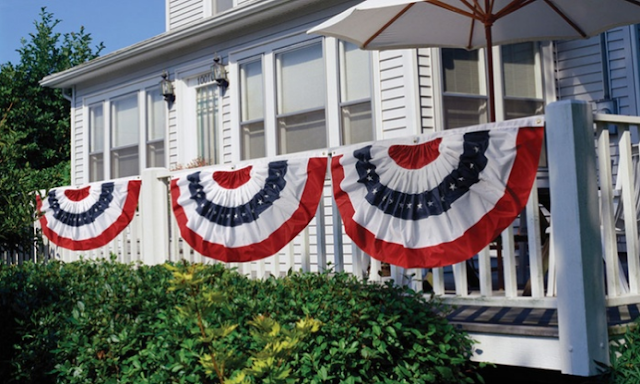 #Groupon, #Ad, Groupon Goods, Garage Door Insulation Kit on Sale, American Flag bunting on sale, Solar lights on sale.