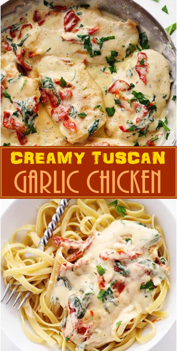 CREAMY TUSCAN GARLIC CHICKEN #Dinnerrecipes