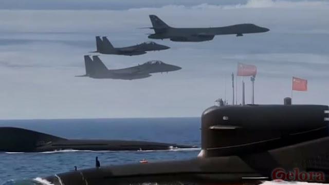 Tiga Pesawat AS Buru Kapal Selam China di LCS