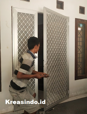 Pintu Expanda Aluminium pesanan Bpk Idan di Banjar Wangi Ciawi Bogor
