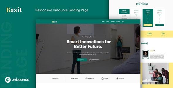 Basit - Unbounce Multipurpose Landing Page Template
