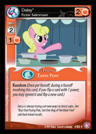 My Little Pony Daisy, Fickle Salesmare Absolute Discord CCG Card