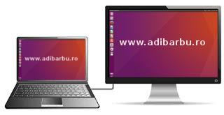Folosire ecran secundar în Ubuntu