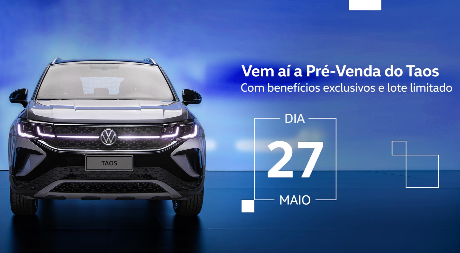 VW do Brasil abre pré-venda do Taos no dia 27/5