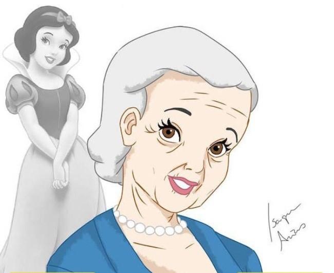 Princesas da Walt Disney idosas
