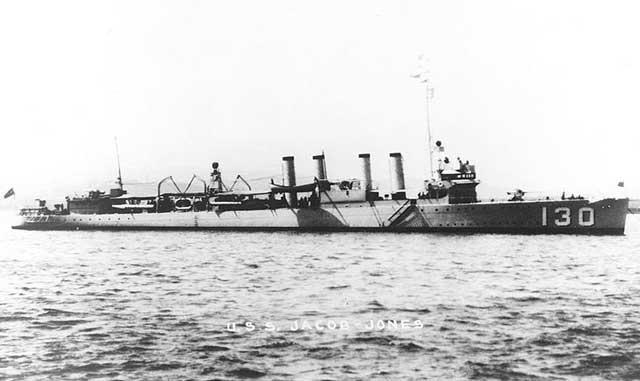 Destroyer USS Jacob Jones, sunk on 28 February 1942 worldwartwo.filminspector.com