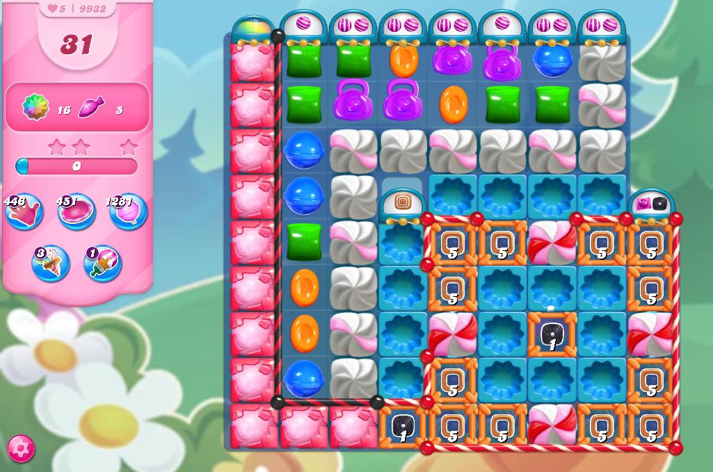 Candy Crush Saga level 9932
