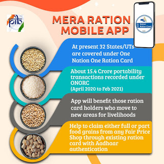 Mera Ration Scheme android mobile app launched today