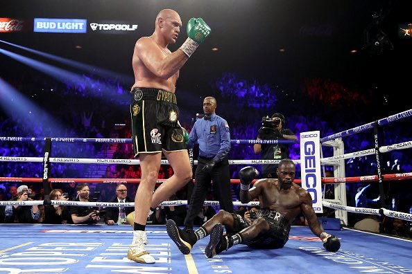 Tyson Fury Drops Deontay Wilder In Rematch