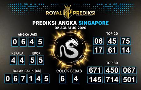Royal Prediksi SGP Minggu 02 Agustus 2020