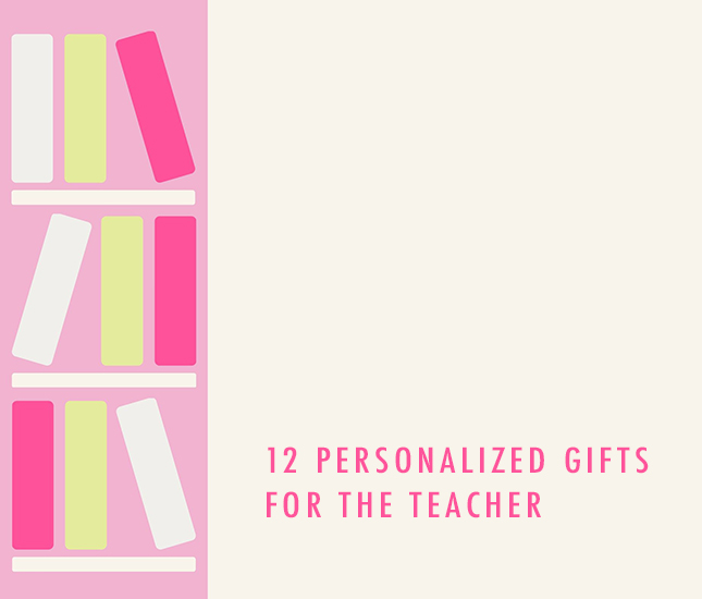 monogram gift guide for teachers