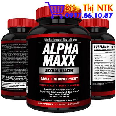Thuốc tăng cường sinh lý nam Alpha Maxx 60 viên USA
